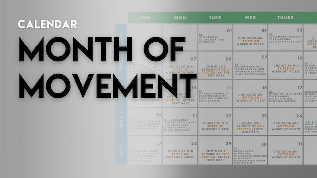 MONTH OF MOVEMENT