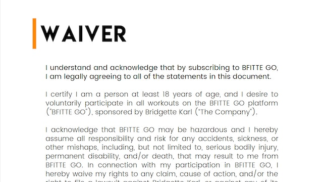 BFITTE WAIVER