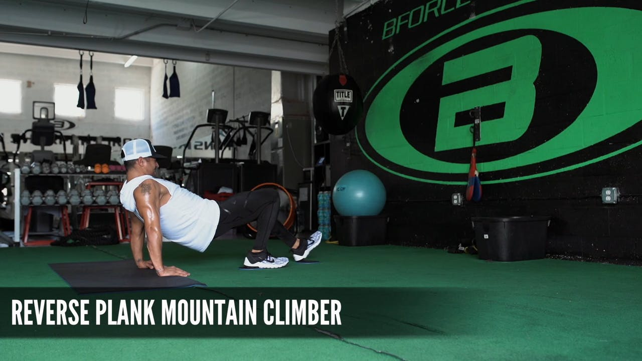 09 Reverse Plank Mountain Climber - B-Force Sliders