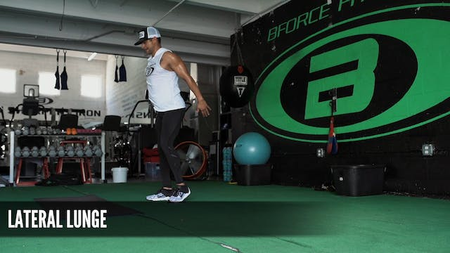 12 Lateral Lunge