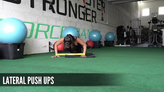 20 Lateral Push Ups