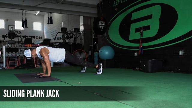 14 Sliding Plank Jack
