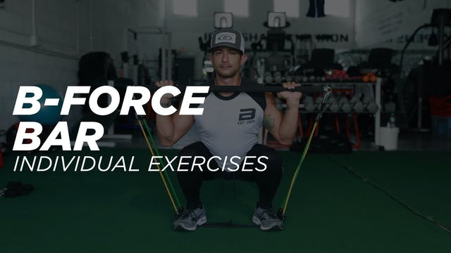 B-Force Bar Individual Exercise Workout Library
