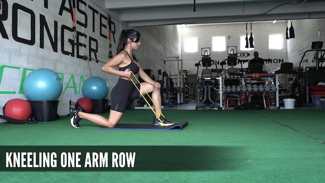 18 Kneeling One Arm Row