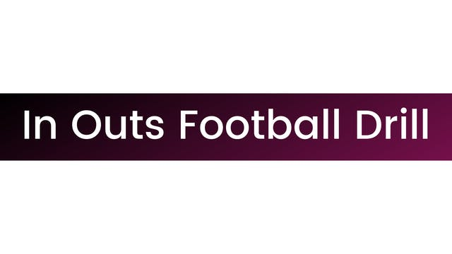 In Outs Football Drill