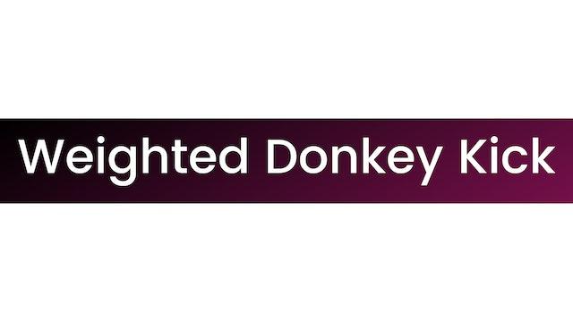Weighted Donkey Kick