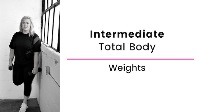 Intermediate: Total Body with Weights