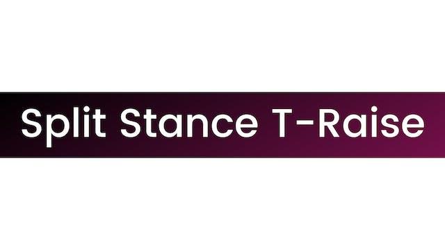 Split Stance T-Raise