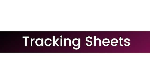 STRONGER Tracking Sheets