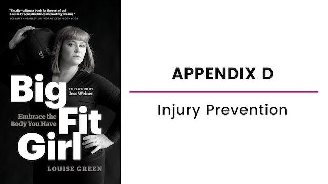Appendix D: Injury Prevention