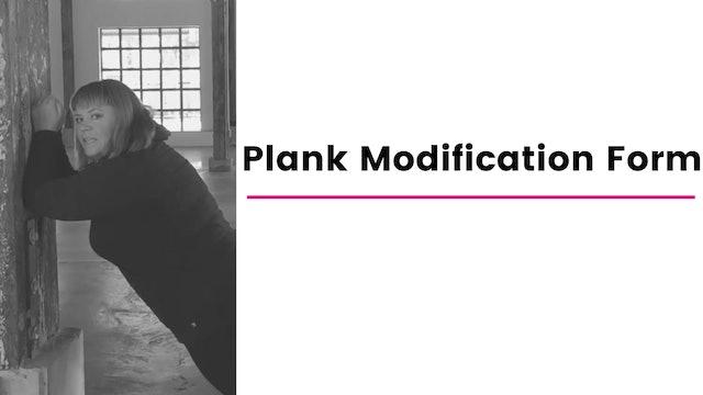 Plank Modification