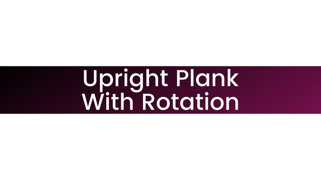 Upright Plank with Rotation
