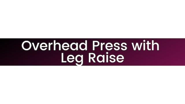 Squat to Overhead Press with Leg Raise