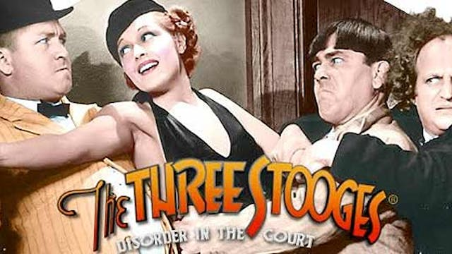 The Three Stooges in Disorder in the Court (Color)
