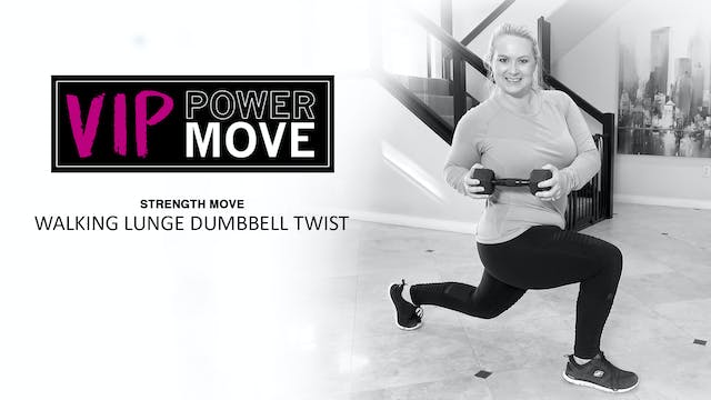Walking Lunge Dumbbell Twist