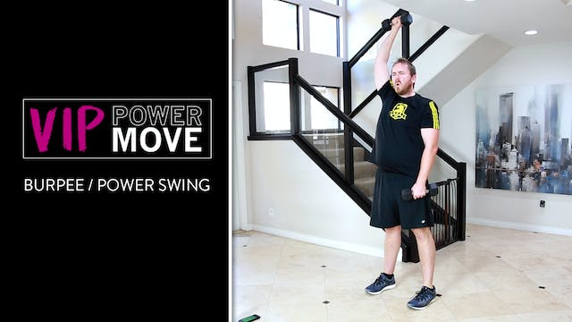 Burpee Power Swings