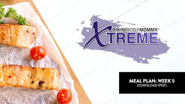 Meal Plan: Week 5 (PDF)