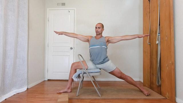 Therapeutic warrior 2 / Elia Nikolaev / taso 1-2 / 30 min.