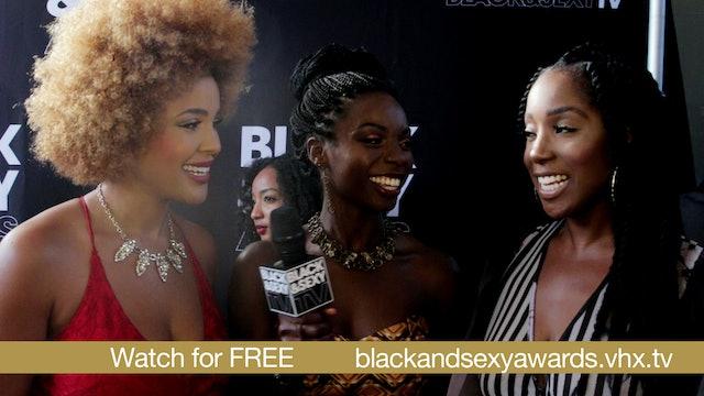 The BLACK&SEXY Awards [ Black Carpet Interviews]