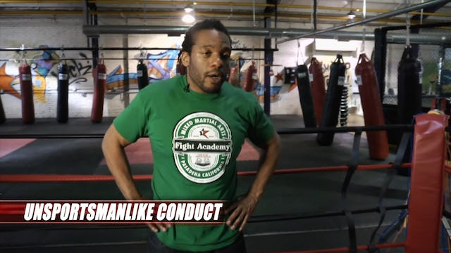 Martial Arts Minute Blasts: Unsportsmanlike Conduct