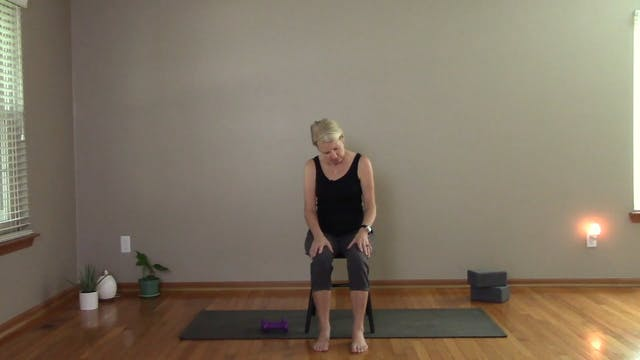 Chair Yoga with Weights