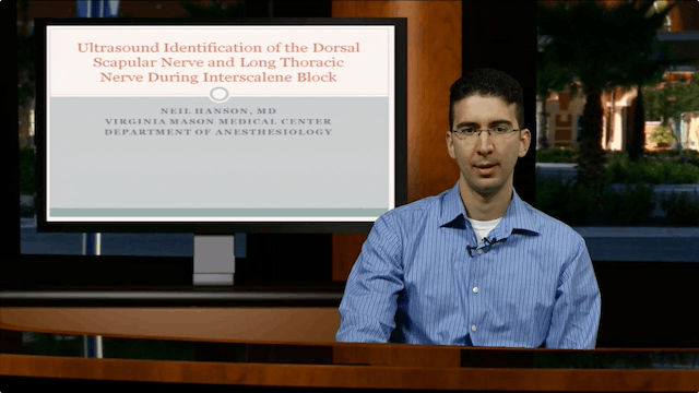 US-Identification of the Dorsal Scapular & Long Thoracic Nerves