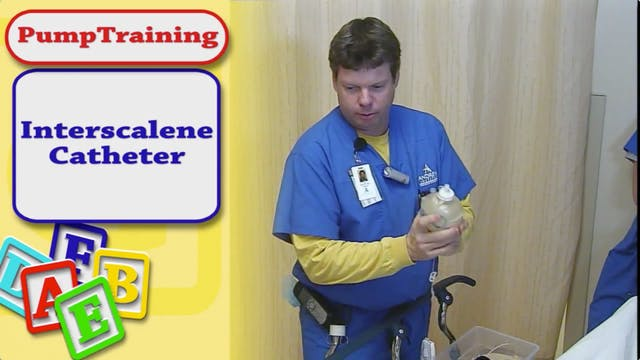 Interscalene Catheter Patient Pump Tr...