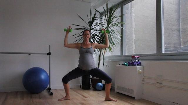 11 Mins - Full Body - Light Hand Weights (Prenatal)