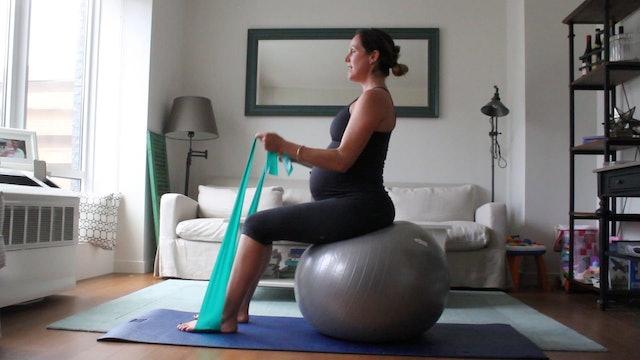 11 Mins - Full Body - Physio Ball & Theraband (Prenatal)
