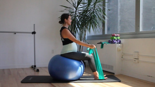 11 Mins - Full Body - Physio Ball & Theraband (Prenatal)