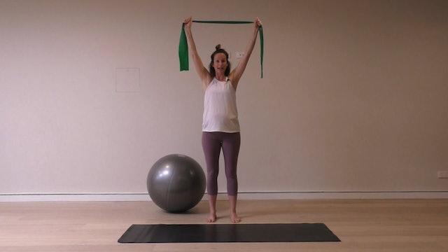 18 Mins - Symphysis Pubis Dysfunction - Theraband & Physio Ball (Prenatal)