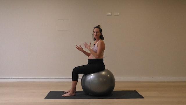 15 Mins - Core - Physio Ball (Prenatal)