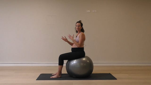 15 Mins - Core - Physio Ball (Prenatal)