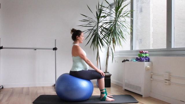 11 Mins - Butt - Physio Ball & Theraband -  SI Joint Pain (Prenatal)