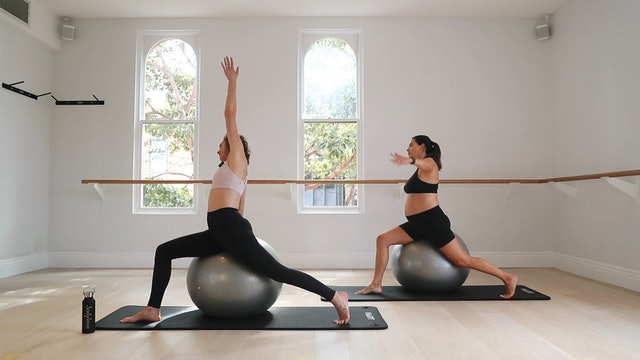 15 Mins - Stretch - Physio Ball (Prenatal)