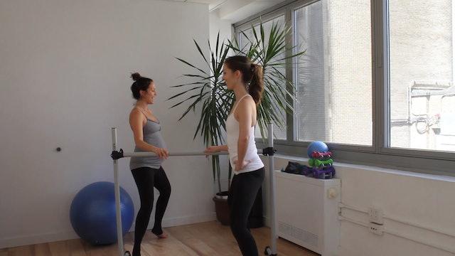 10 mins - Legs & Butt - Barre (Prenatal)