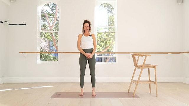 28 mins - Barre Workout - Legs & Glutes - Chair (Prenatal)