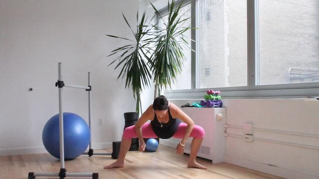 8 Mins - Stretch - Physio Ball & Block (Prenatal)