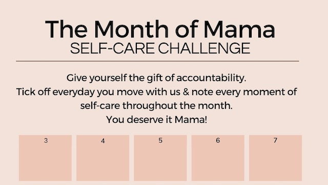 Month of Mama Self Care Challenge - Tick Off Planner