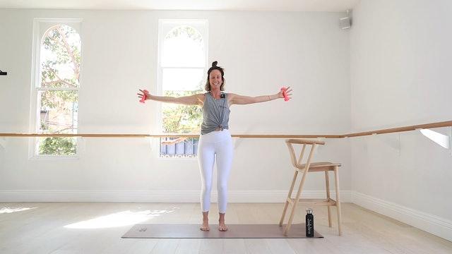 30 Mins - Arms & Legs - Chair & Light Hand Weights (Prenatal)