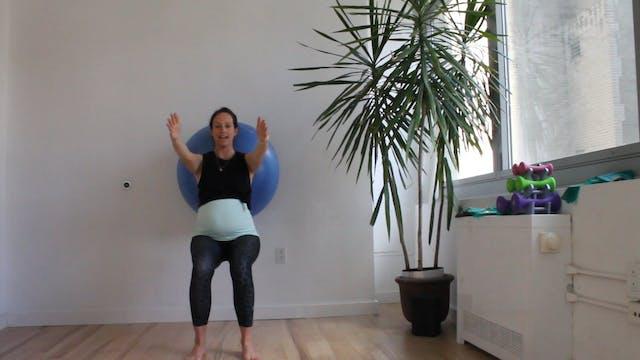 10 Mins - Legs - Physio Ball (Prenatal)