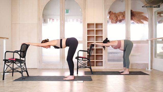 33 mins - Barre Workout - Chair, Hand Weight (Prenatal)