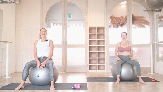 30 mins - Full Body - Physioball, Booty Band, Hand Weights (Prenatal)