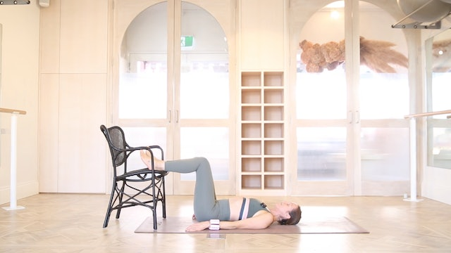 NEW! 23 Mins - Barre - Chair, Hand Weights (Strong Mama)