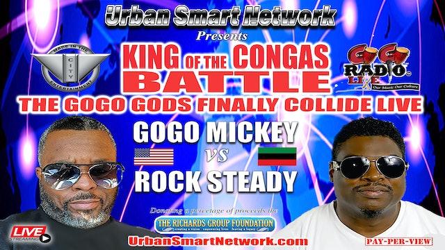 "KING OF THE CONGOS  ""THE GO-GO GODS FINALLY COLLIDE"""