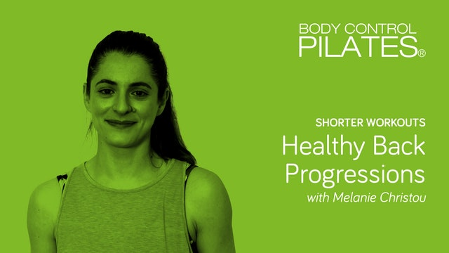 Shorter Workout: Healthy Back Progressions