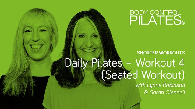 Short Workout: Daily Pilates - Workout 4 (Seated Workout)