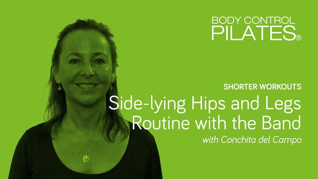 Short Workout: Side-lying Hips and Legs Routine with the Band