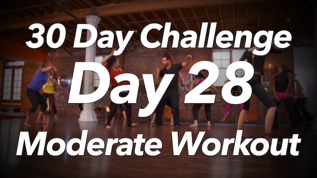 30 Day Challenge - Day 28 Moderate Energy Workout