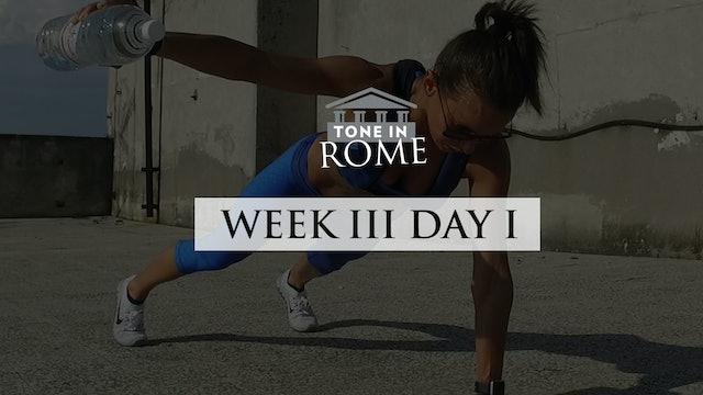Tone in Rome | Week 3 | Day 1
